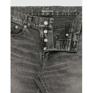 Saint Laurent Distressed Skinny Jeans  - Black - Size: IN 30
