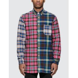 Loewe ELN Patchwork Check Overshirt  - Multicolor - Size: Medium