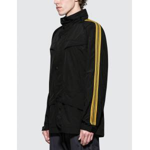 Stella McCartney Parka with Gold Piping  - Black - Size: 48