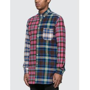 Loewe ELN Patchwork Check Overshirt  - Multicolor - Size: Large
