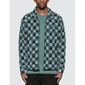 Stussy Brent Polar Fleece Jacket  - Blue - Size: Medium