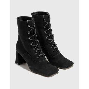 BY FAR Claude Black Cashmere Suede Boots  - Black - Size: EU 37