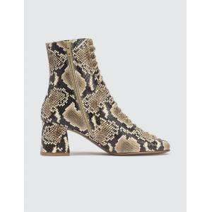 BY FAR Becca Snake Print Leather Boots  - Multicolor - Size: EU 37