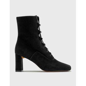 BY FAR Claude Black Cashmere Suede Boots  - Black - Size: EU 36