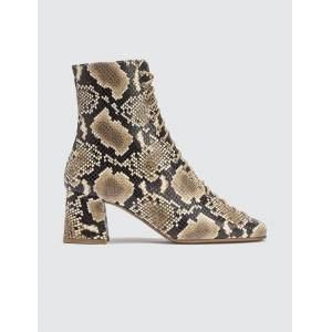 BY FAR Becca Snake Print Leather Boots  - Multicolor - Size: EU 38