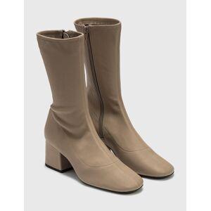 BY FAR Carlos 22 Khaki Stretch Leather Boots  - Beige - Size: EU 38