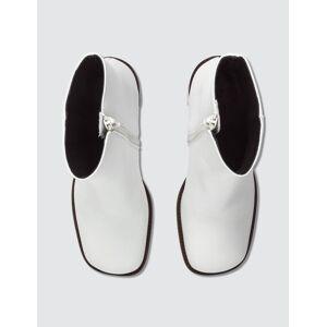 BY FAR Ellen White Leather Boots  - White - Size: EU 37