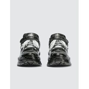 Maison Margiela Retro Low Fit Metallic Sneakers  - Black - Size: EU 39