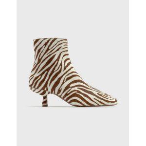 BY FAR Lange Zebrina Beige Leather Boots  - Multicolor - Size: EU 38