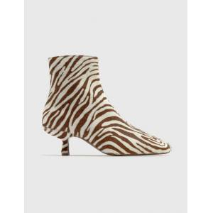 BY FAR Lange Zebrina Beige Leather Boots  - Multicolor - Size: EU 36