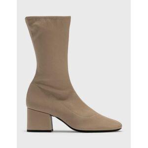 BY FAR Carlos 22 Khaki Stretch Leather Boots  - Beige - Size: EU 36