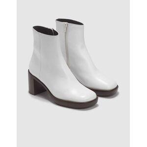 BY FAR Ellen White Leather Boots  - White - Size: EU 39