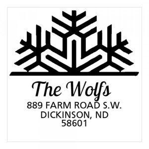 Trodat Jumbo Snowflake Square Monogram Stamp