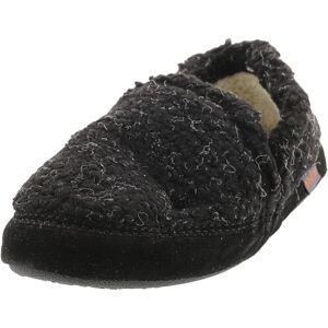 Acorn Boy's Colby Gore Moc Black Berber Mid-Top Fleece Slipper - 11M