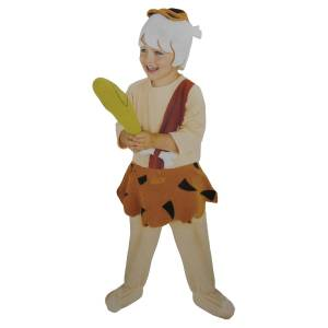 Rubies Rubie's Costume Co The Flintstones Bamm-Bamm Child Costume with Headcover, Jumpsuit with Foot Covers and Club - M - Multi
