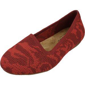 Soft Walk Women's Sicily Red Fabric Flat Shoe - 6WW