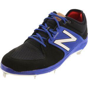 New Balance Men's L3000V3 Black / Blue Ankle-High Baseball - 16M