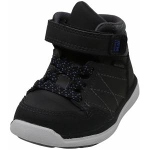 Stride Rite Boy's Made 2 Play Saul Black High-Top Leather Sneaker - 4W