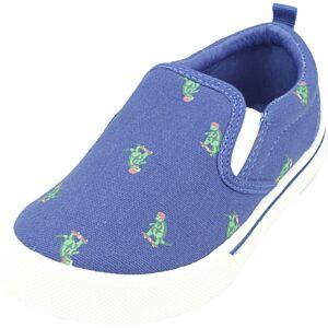 Osh Kosh B'gosh Boy's Austin Dark Blue Low Top Fabric Slip-On Shoes - 12M