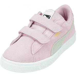 Puma Girl's Suede Classic V Ps Pale Pink / Grey Violet Ankle-High Leather Sneaker - 3.5M