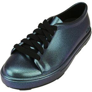 Melissa Girl's Be Shine Blue Iridescent Ankle-High Sneaker - 3M