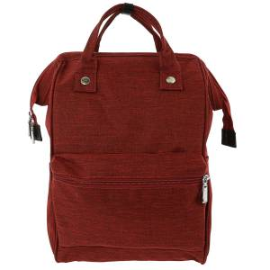 5th Elm Double Zipper Backpack, Sturdy Construction, Water Resistant, Multipurpose, Easy Access, Multiple Pouches and Pockets - Red