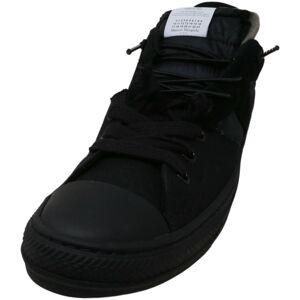 Maison Margiela Men's Evolution Low Black Ankle-High Canvas Sneaker - 12M