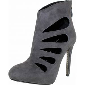 Rebecca Minkoff Women's Acadia Charcoal Grey Ankle-High Suede Pump - 6M