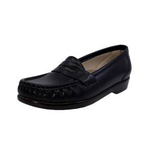Sas Women's Wink Black Leather Loafers & Slip-On - 12N