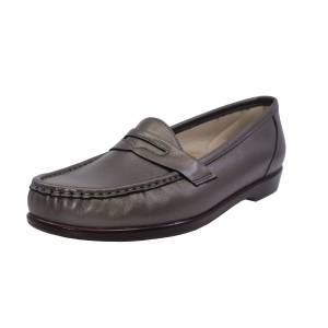 Sas Women's Wink New Pewter Leather Loafers & Slip-On - 12N