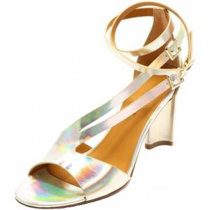 Clergerie Paris Women's Ardent Platine Double Gold Ankle-High Leather Sandal - 7.5M