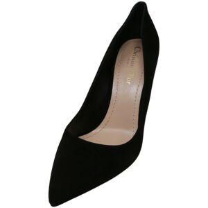 Christian Dior Women's D-Choc Noir Ankle-High Leather Pump - 6.5M