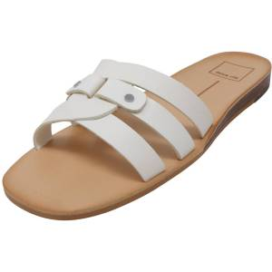 Dolce Vita Women's Cait Leather Off White Sandal - 6M