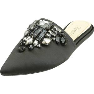 Vince Camuto Women's Caide Satin Black Mules - 6M