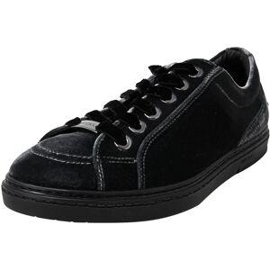 Jimmy Choo Women's Cash Slate Ankle-High Velvet Sneaker - 8.5M