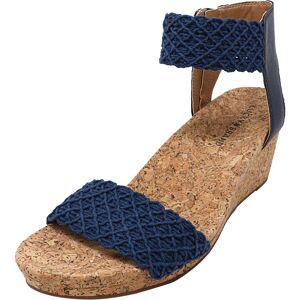 Lucky Brand Women's Kierony Sharony Tape Indigo Ankle-High Heel - 8.5M