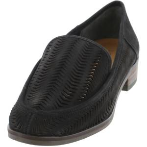 Lucky Brand Women's Camdyn Black Ankle-High Leather Loafers & Slip-On - 6.5M