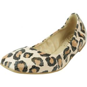 Vince Camuto Women's Brindin Leather Spotted Print Ankle-High Flat Shoe - 5M