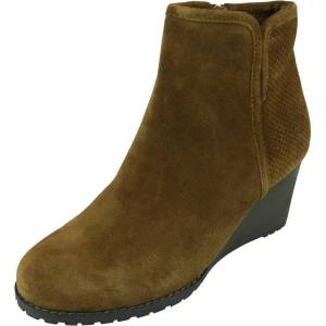 Rockport Women's Hollis Vcut Bootie Tan Ankle-High Leather Boot - 6W