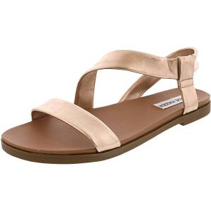 Steve Madden Women's Dessie Rose Gold Ankle-High Leather Sandal - 8M