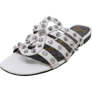 Sam Edelman Women's Beatris Leather White Sandal - 5.5M
