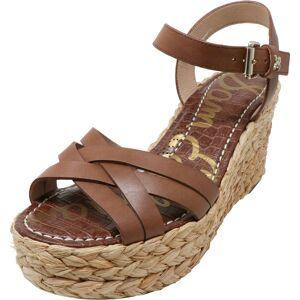 Sam Edelman Women's Darline Leather Latte Ankle-High Wedged Sandal - 9.5M