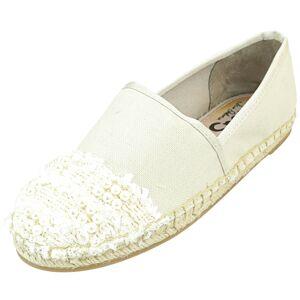 Sam Edelman Women's Lane Ivory Ankle-High Canvas Slip-On Shoes - 5M