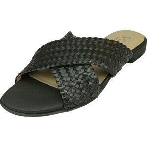 Naturalizer Women's Royale Leather Black Sandal - 5M
