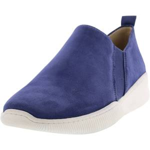 Naturalizer Women's Untold Suede Blue Ankle-High Leather Sneaker - 9.5M