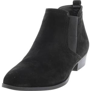 Naturalizer Women's Becka Nubuck Black Ankle-High Leather Boot - 6.5M