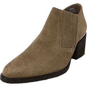Steve Madden Women's Korral Suede Taupe Leather Boot - 8.5M
