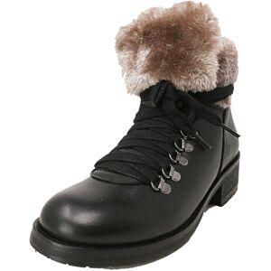 Steve Madden Women's Paloma Leather Black High-Top Boot - 6M