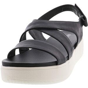 Aerosoles Women's Microphone Leather Black Ankle-High Sandal - 9.5M