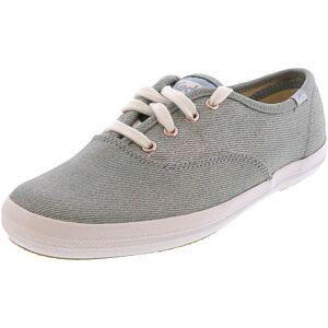 Keds Women's Champion Denim Light Blue Ankle-High Fabric Flat Shoe - 5M